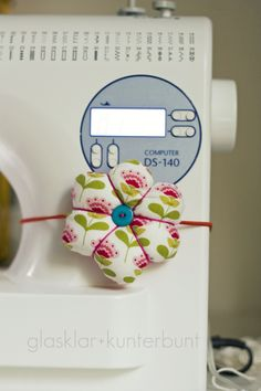 Handy pin cushion. I need to make one of these!