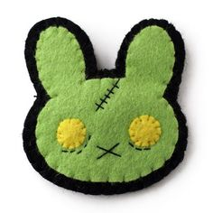 Handmade Gifts | Independent Design | Vintage Goods Zombie Bunny Pin/Brooch - Girls
