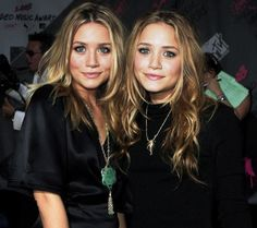 Mary Kate (right) and Ashley Olsen