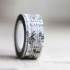 Tissue Tape 20 mm MUSIC 16 yards by leboxboutique on Etsy, $5.50