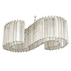 view this item and discover similar chandeliers and pendants for sale at 88 triangular crystal tronchi depend from an s shaped nickeled steel armature adfix ironmongery lighting hanging pendant lights