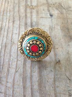 Tibetan Medallion ring