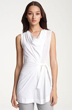 Fabiana Filippi Perforated Cotton & Jersey Tunic available at #Nordstrom