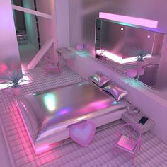 27 Ideas Bedroom Goals Dream Rooms Heavens For 2019 Neon Bedroom, Girls Bedroom, Bedroom Decor, Bedroom Bed, Master Bedroom, Bed Room, Bedroom Furniture, Awesome Bedrooms, Cool Rooms