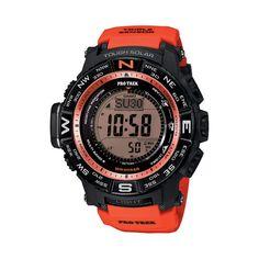 Casio Men's PRO Trek Digital Atomic Watch - PRW3500Y-4CR, Orange