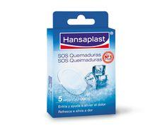 Apósito Hansaplast SOS Burn - Enfriamiento y curación de quemaduras pequeñas