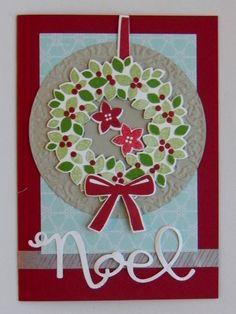 """""""Willkommen, Weihnacht!"""" - oder Türkränze für die Karte   http://eris-kreativwerkstatt.blogspot.de/2014/11/willkommen-weihnacht-oder-turkranze-fur.html"""