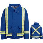 Bulwark Lined Bomber Jacket with Reflective Trim HRC2 | Hi Vis Safety Clothing at the lowest Price , Call Us for B2B Pricing almost at wholesale