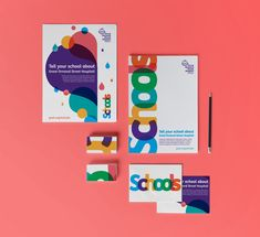 Colourful branding to appeal to children, parents and teachers. Self Branding, Kids Branding, Graphic Design Typography, Graphic Design Illustration, Logo Design Liebe, Kids Logo, Brand Identity Design, Marketing, Brochure Design