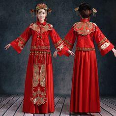 新款秀禾服新娘礼服中式结婚敬酒服复古旗袍龙凤褂嫁衣服回门装
