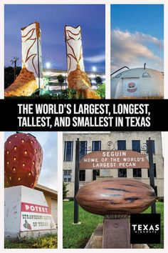 How often have you heard that? The New-York Tribune is said to have coined the phrase more than a century ago. Though not quite everything in the Lone Star State qualifies as the world's largest, tallest, longest, or widest, plenty do. Hitting the road to find them is a gargantuan trip in itself.
