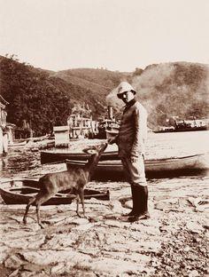 """Resneli Niyazi Bey ve geyiği """"Rehber-i Hürriyet"""" / Resneli Niyazi Bey and his fawn """"Rehber-i Hürriyet"""", (1916-1918)"""