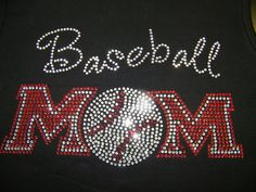 Adult Bling Baseball Mom by FreshBakedApparel on Etsy. $30.00 USD, via Etsy.