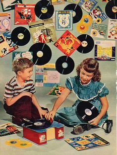 - Record Party - #music #kitsch #records #vinyl http://www.pinterest.com/TheHitman14/musical-kitsch-%2B/