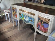 "Groovy Green Designs: ""The Heaven's"" A Sideboard Makeover"