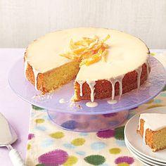Orange-Olive Oil Cake with Vanilla Glaze   MyRecipes.com
