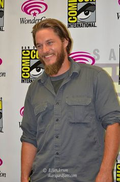 Saturday's WonderCon line up included the History Channels new show Vikings. Cast members present were Travis Fimmel, Katheryn Winnick and George Hot Men, Hot Guys, Katheryn Winnick, Travis Fimmel, History Channel, Alexander Skarsgard, New Shows, My Man, Blue Eyes
