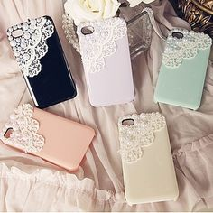 pearly phone cases...pretty!