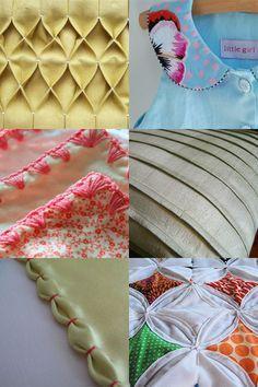DIY Différentes techniques de coutures. (http://thelongthread.com/?p=3843)