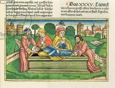 2 Chronicles 35 24 Burial of Josiah, from the 'Nuremberg Bible (Biblia Sacra Germanaica)' (coloured woodcut), 1483