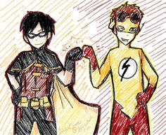 Robin and Kid Flash! by ~LuckiiClover