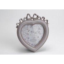 Portafotos forma corazón para foto de 13x13cm.