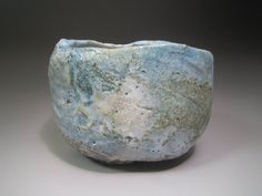 blue raku bowl.