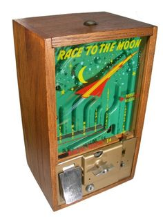 Victor Race to the Moon Gumball Machine/Game Arcade Game Machines, Arcade Machine, Slot Machine, Arcade Games, Vending Machines, Consoles, Bubble Machine, Penny Arcade, Retro Arcade