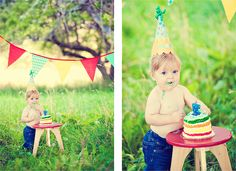 First Birthday Photography Ideas - Bing Images One Year Pictures, Baby Pictures, Baby Photos, Cute Pictures, Children Photography, Photography Ideas, Baby 1st Birthday Cake, First Birthday Photography, Circus Theme Party