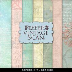 Freebies Vintage Style Backgrounds Kit - SeaSide