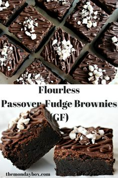 Flourless Passover Fudge Brownies (GF)- Amazingly rich, chocolaty, AND gluten free! / The Monday Box