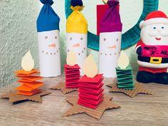 Kleine Kerzen falten – Basteln mit Kindern paper paper napkins paper to the moon Christmas Activities, Kids Christmas, Christmas Ornaments, Winter Crafts For Kids, Diy For Kids, Preschool Crafts, Kids Crafts, Diy Crafts To Do, Small Candles