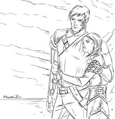 "Rowan & Aelin (""Throne of Glass"" by @sjmaas) ah, scribbles-scribbles -__-"