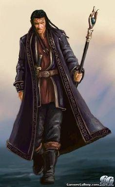 Male Half-Elf Sorcerer/Warlock/Wizard