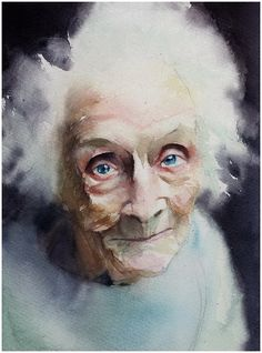 Watercolor painting by Marcos Beccari German Artist . Watercolor Face, Watercolor Portraits, Watercolor Illustration, Watercolour Painting, Painting & Drawing, Watercolors, Female Portrait, Portrait Art, Woman Portrait
