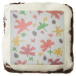 Autumn Leaves Pattern Brownies #thanksgiving