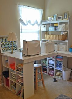 nice sewing space.  Endless possibilities.  Make it your own and personalize your space