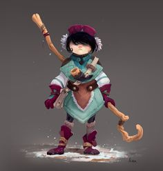 This is the concept art of shepherds lost their sheep. Game Character Design, Kid Character, Character Creation, Character Design Inspiration, Character Concept, Concept Art, Fantasy Characters, Cartoon Characters, Design Creation