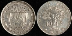#CostaRica 10 Centavos, 1875. Check it out and more World Coins at meridiancoin.com, see what's selling on our eBay, or come by our store in #Torrance CA. #coin #money #collecting #numismatic #numismatist