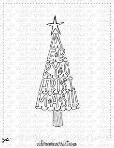 Check out my shop at valeriewienersart.com #valeriewienersart #coloringpage #coloringpages #classroom #homeschool #instantprintable #christmascoloringpage #christmascoloringsheet #handlettering #handletteredart #homedecor #calligraphy #creativelettering #handmade #digitalprint #christmasfun #christmascoloringbook #wintercoloringbook #christmas #christmastree #christmastime