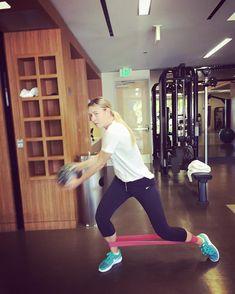 Maria's Instagram: #FitnessFriday warm ups