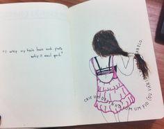 #Crie #um #desenho com um fio (ou vários) de seu cabelo #destrua #este #diario  #Wreck #this #journal