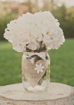60 elstile long wedding hairstyles and updos pinterest jar 30 rustic wedding ideas with burlap touches burlap mason jarsmason jar centerpieceswedding solutioingenieria Images