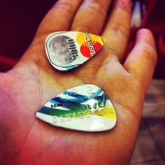 Credit card expired? #reduce #reuse #recycle and turn it into guitar picks! #ideas