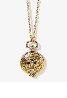 Owl Locket Necklace | FOREVER21 - 1054625972