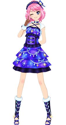 Aikatsu STARS! ROLA Night Wish Coord 3D