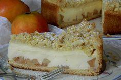 Apfelkuchen mit Vanillecreme und Streuseln