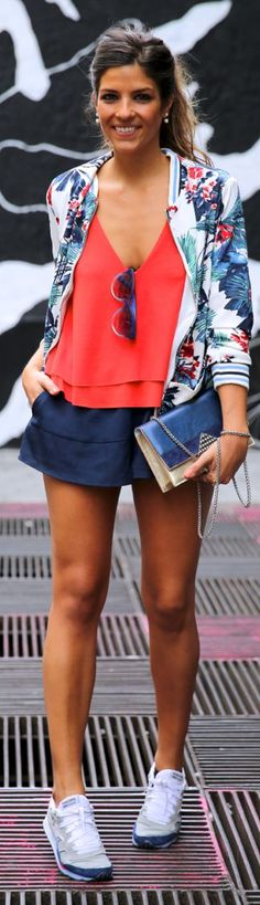 Sheinside Multicolor Women's Jungle Print Bomber Jacket by TrendyTaste