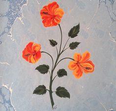Hibiscus marbling by Firdevs Çalkanoğlu