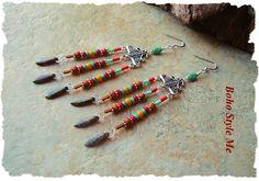 Rustic Genuine Turquoise Earrings, Boho Tribal Earrings, Colorful Boho Cowgirl Jewelry, Boho Style Me, Kaye Kraus by BohoStyleMe on Etsy